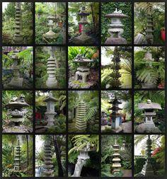 Japanese stone lanterns in Monte Palace Tropical Garden, Madeira