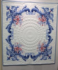 Quilted vintage tablecloth from the wonderful FB page, Plantdreaming..Quilt by Elena Folomeva from Russia.