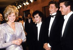"""June 12 1985 Charles & Diana attend the premiere of the film """"A View to a Kill"""" in aid of the Prince's Trust, and the British Deaf Association, at the Odeon Cinema, Leicester Square, London"""