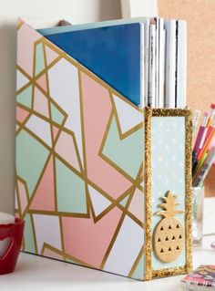 Organizing Hacks: 3 Recycled DIY Organizers with Mod Podge including a video tutorial and how to make this magazine holder out of a cereal box!