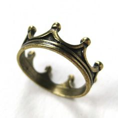 Royal Crown Princess Ring in Bronze - Available in size 5 ONLY $5.99 #royals #princess #jewelry #ring #crown