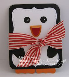 Christmas Penguin Card with the Top Note Die