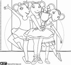 Angelina Ballerina Coloring Pages Polly