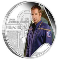 2015 1 Oz Tuvalu Star Trek Captain Archer Proof Silver Coin for sale online Silver Coins For Sale, Silver Eagle Coins, Gold Coins, Scotty Star Trek, 2015 Tv, Star Trek Captains, Star Trek Collectibles, Star Trek Universe, Star Trek Enterprise