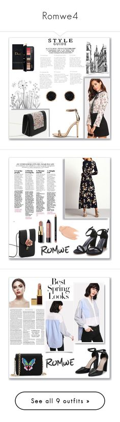 """Romwe4"" by musicajla ❤ liked on Polyvore featuring Estée Lauder, Humble Chic, Too Faced Cosmetics, Bobbi Brown Cosmetics, H&M, Tom Ford, Whiteley, David Yurman, Maison Scotch and Bésame"