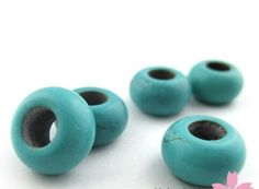 40X 15mm Natural Turquoise round Loose Beads