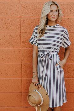 Dodson Stripe Dress   ROOLEE