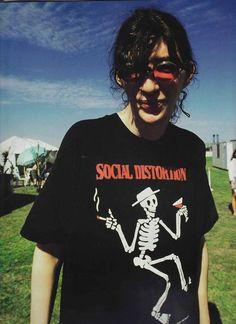 Joey Ramone wearing a Social Distortion shirt
