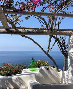 Oia Greece, Ocean Sounds, Outdoor Spaces, Outdoor Decor, Patio, Plants, Home Decor, Summer, Travel