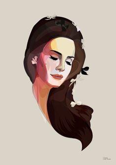 Lana Del Rey vector portrait