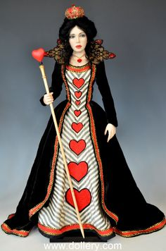 Diane Keeler One of a Kind Dolls At the Dollery     The Queen of Hearts from   -  Alice in Wonderland