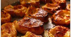 TORRIJAS DE FLAN AL HORNO , RECETA FACIL Flan, Scones, Baked Potato, French Toast, Muffin, Food And Drink, Baking, Breakfast, Ethnic Recipes
