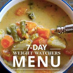 7 Day Weight Watchers Menu #7daymenu #weightwatchers