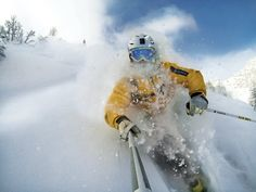 Record the perfect powder runs with your new GoPro. Rider: Daniel Jenny | Photo by GoPro