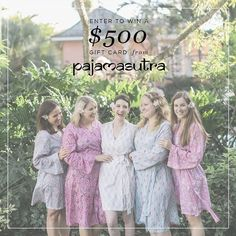 Want to win a $500 gift card to help you dress up your ladies in gorgeous @pajamasutra robes? Get excited because today's your lucky day! 10 wedding bloggers (us included) have teamed up with Pajama Sutra to bring you this amazing sweepstakes and help you lounge like a goddess! And lucky for you entering to win has never been easier!  HOW TO ENTER: 1. Follow @savvybride  @pajamasutra  like this photo 2. Tap on the photo once to see who Ive tagged then follow her  like her photo 3. Continue…