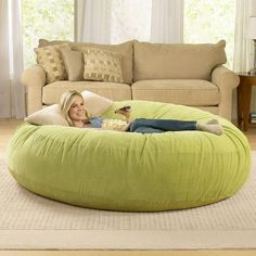 Giant Bean Bag Chair Lounger at BrookstoneBuy Now! Make that bean bag a dog bed for dog children!