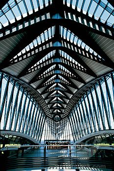 TGV station at Lyon-Saint Exupéry Airport, 1994, Calatrava