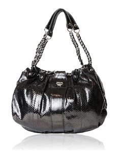 MCM Black Python Hobo Bag $1650.00  http://www.boutiqueon57.com/products/mcm-black-python-hobo-bag-with-chain-shoulder-straps