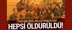 Zeytin Dalı Harekâtı başlamadan önce toplu fotoğraf çektiren 15 kadın 7 de erkek teröristin, Afrin'de Mehmetçik ve ÖSO tarafından öldürüldüğü belirlendi...