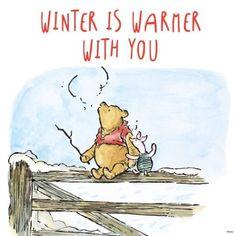 Cute Winnie the Pooh! Winnie The Pooh Christmas, Cute Winnie The Pooh, Winnie The Pooh Quotes, Winnie The Pooh Friends, Piglet Quotes, Winter Illustration, Cute Illustration, Pooh Bear, Tigger