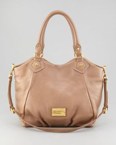 Classic Q Francesca Satchel Bag, Praline by MARC by Marc Jacobs at Neiman Marcus.