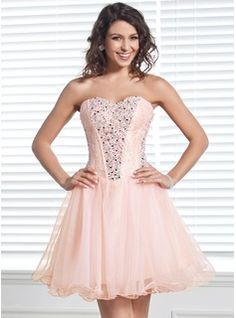 Homecoming Dresses - $144.99 - A-Line/Princess Sweetheart Short/Mini Organza Homecoming Dress With Lace Beading  http://www.dressfirst.com/A-Line-Princess-Sweetheart-Short-Mini-Organza-Homecoming-Dress-With-Lace-Beading-022020579-g20579
