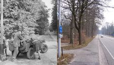 THEN & NOW: Battle of Arnhem. Troops at Doorwerth in September, 1944 during Operation Market Garden. Growing Vegetables In Containers, Operation Market Garden, Garden Gifts, Then And Now, World War Two, Organic Gardening, Garden Tools, Netherlands, Bicycles