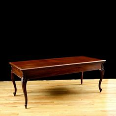 American Antique Library Table on Cabriole Legs, c. 1890