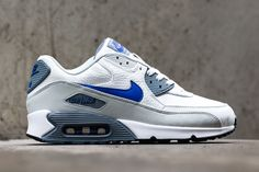 Nike Air Max 90 Leather Lyon Blue Mens Trainers was Now save up to off. Nike Air Max 90s, Mens Nike Air, Nike Men, Nike Heels, Nike Wedges, Nike Sneakers, Hypebeast, Zapatillas Nike Air, Air Max 90 Leather