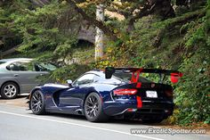 Dodge Viper, spotted in Carmel, California, Date: King_AM, Comment: Beautiful Viper ACR I randomly found parked on the side of the street. Us Cars, Sport Cars, Race Cars, Viper Acr, Dodge Viper, Automobile, Carmel California, Custom Muscle Cars, Mustang Cars