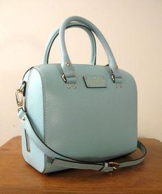 KATE SPADE WELLESLEY Berkeley ALESSA Bag Purse ~ ROBIN'S EGG Blue Leather -NWT #katespade #Satchel