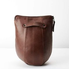 c263e971c42b Handmade leather toiletry inspired by boxing speed bags. Easy to clean  water resistant liner.