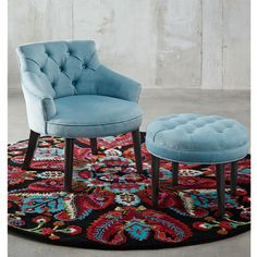 Abigail chair and ottoman in Eaton Sky was $599, NOW $499 #freedomaustralia