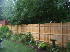 Backyard Wood Fence Ideas a very common example using standard cedar fence boards by using these boards fence Backyard Fencesfence Ideas