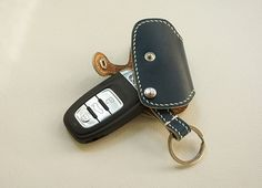 Handmade for Audi Ieather Remote key Case Holder Cover fob