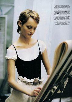 ☆ Amber Valletta | Photography by Dewey Nicks | For Vogue Magazine US | April 1993 ☆
