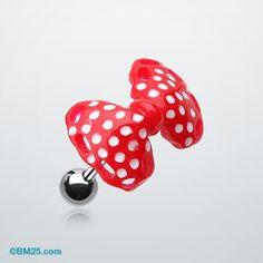 Polka Dots Bow Tie Cartilage Earring #piercing #tragus #bodymods #fashion