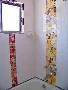 natalie baca studio: DIY Mosaic Bathroom Tile