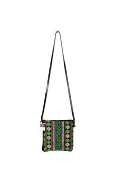 Handmade genuine leather cross body bag with beautiful hand woven fabric from HMONG Hill Tribes in Northern Thailand. #ethniclanna #genuineleather #handmade #handbag #crossbodybag #uniquebag #oneofakind #hmonghilltribes #thaibags #Thailand