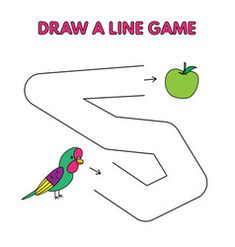 Cartoon parrot draw a line game for kids vector Cat Games For Kids, Mazes For Kids, Preschool Learning Activities, Kids Learning, Kids Vector, Vector Free, 4th Grade Crafts, Parrot Drawing, Alphabet Drawing