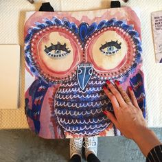 Owl Tote by Eve Devore