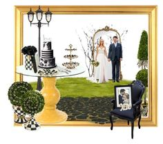 """""""Wedding style black white outside"""" by britt-catlynne-weatherall ❤ liked on Polyvore featuring MacKenzie-Childs, John Timberland, Michael Aram, Fetco, Pier 1 Imports and Hervé Gambs"""