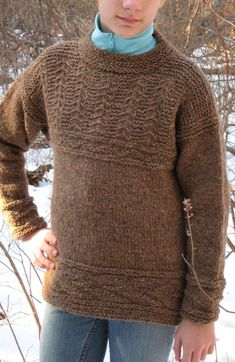 Free Knitting Pattern for Guernsey Sweater - Long-sleeved pullover with gansey textures. Sizes child adult S, M, L. Designed by Christiane Burkhard. Newborn Crochet Patterns, Sweater Knitting Patterns, Knitting Stitches, Free Knitting, Baby Knitting, Crochet Designs, Long Sweaters, Cardigans For Women, Free Pattern