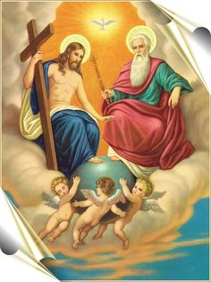 holy trinity at DuckDuckGo Catholic Pictures, Pictures Of Jesus Christ, Religious Pictures, Catholic Religion, Catholic Art, Religious Art, Jesus Christus, Special Prayers, Christ The King