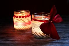 Christmas Lights with Washi Tape. Great idea for decorating jam jars that you're giving away as gifts.