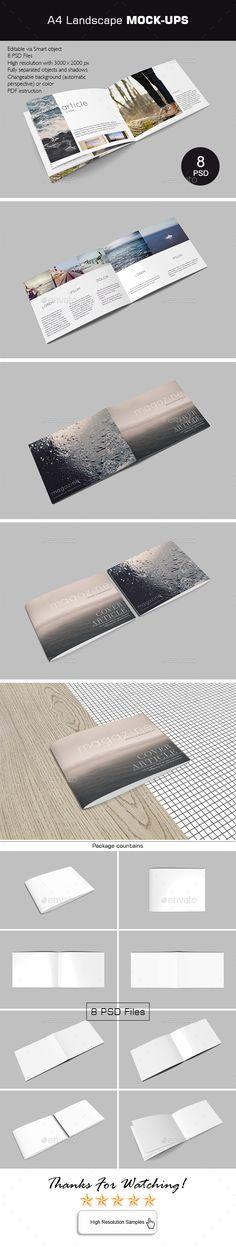 Landscape A Brochure Mock Up  Brochures Mockup And Brochure