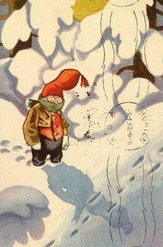 Vintage Postcards, Gnomes, Elves, Fairies, Disney Characters, Fictional Characters, Christmas Cards, Disney Princess, Art