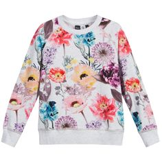 Girls Grey Floral Print  'Raewyn' Top, Molo, Girl