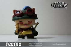 the third and final piece of my latest commission, teemo! used a KR Trikky with a crapton of loving and patience. this one was fun, bu. League Of Legends, Lol, Deviantart, League Legends, Fun