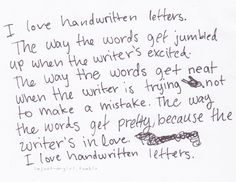 Ode to the handwritten letters.